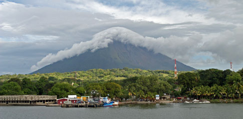 Ometepe Island from San Jorge Ferry dock