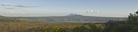Picture: View from base of Masaya Volcano