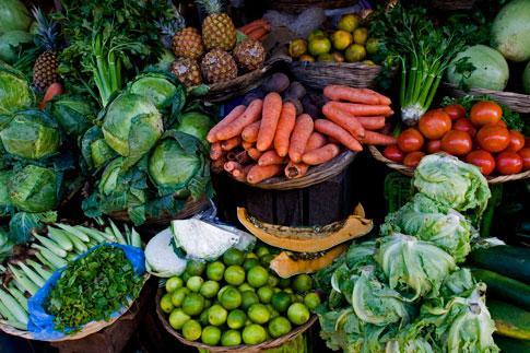 Picture: Vegetables for sale at Masaya Market
