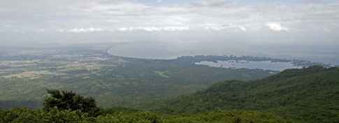View from Mombacho Volcano in Nicaragua
