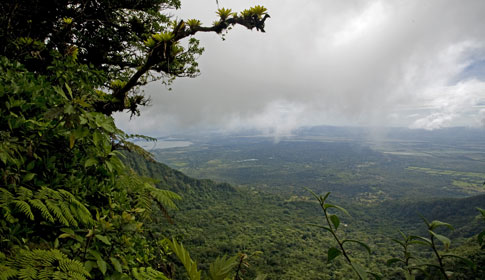 View of Granada from Mombacho Volcano in Nicaragua