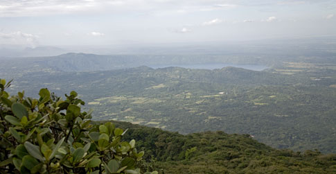 View of Masaya from Mombacho Volcano in Nicaragua