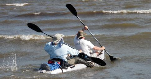 kayak on lake Nicaragua