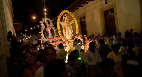 Purísma Processions in Granada, Nicaragua
