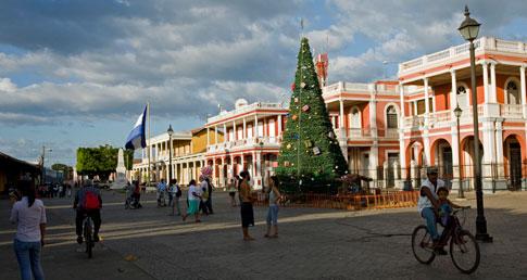 Christmas Tree in Parque Colon, Granada, Nicaragua