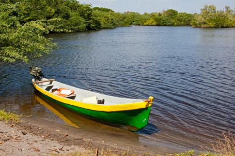 Juan Venado Nature Reserve, boat