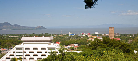 View from Loma de Tiscapa in Managua, Nicaragua