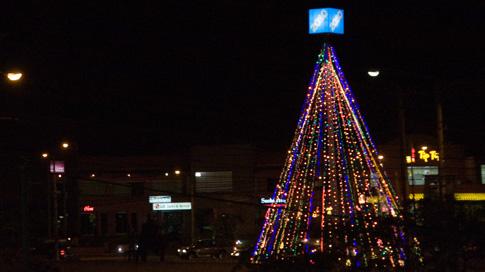 Christmas tree in Managua, Nicaragua