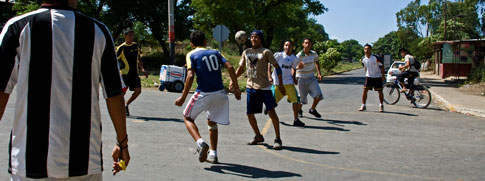 Kids playing Soccer in Managua, Nicaragua