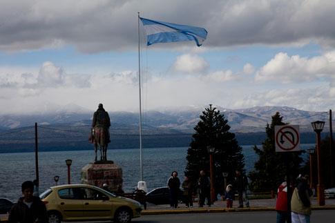 Town Square in the city of San Carlos de Bariloche, Argentina