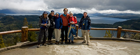 Tour group at Climbing Cerro Campanario