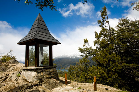 Religious icon at the top of Cerro Campanario
