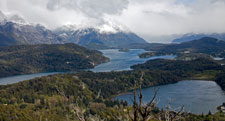 View from Cerro Campanario of Argentina Lakes District