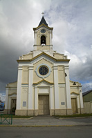 Church by main square of Puerto Natales