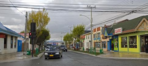 Puerto Natales city scene