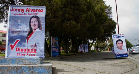 Political posters, Ancud, Chile