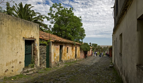 Colorful buildings in the historical district