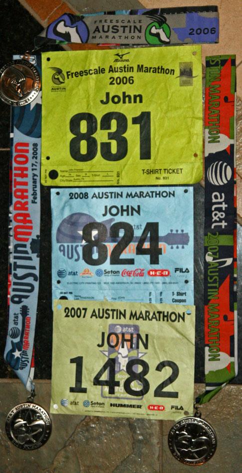Austin Marathon bib