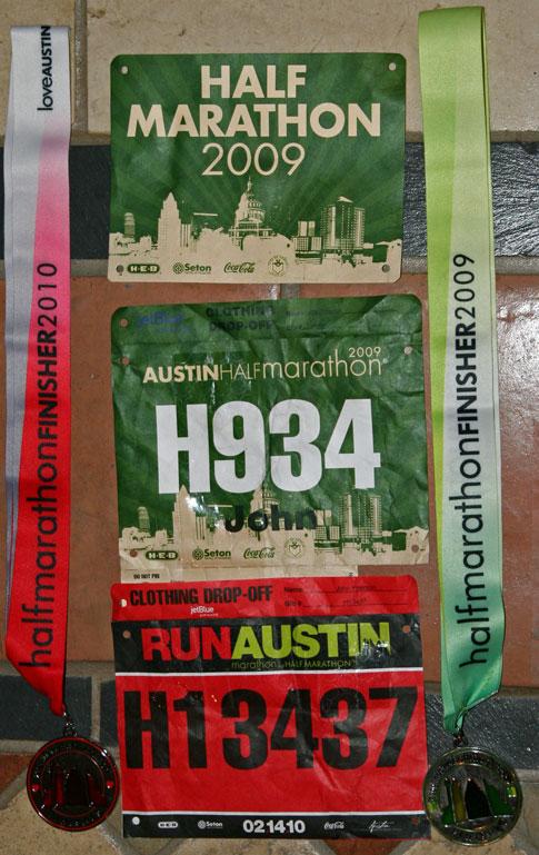 Austin Half Marathon bib