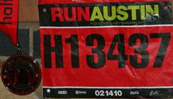 2010 Austin Marathon bib