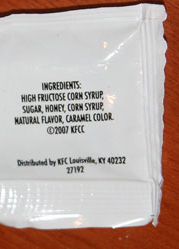 KFC Honey Sauce Packet Ingredients