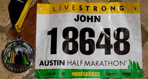 2011 Livestrong Austin Half Marathon bib